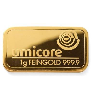 Gold Bullion 1Gram Umicore 9999 Fine