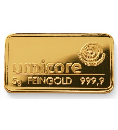 Gold Bullion 5Grams Umicore 9999 Fine