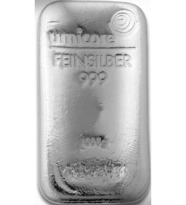 Silver Bullion 1 Kilo Umicore 999 Fine