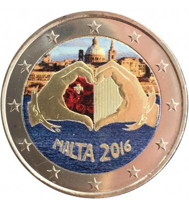 2016 Malta Love Coloured 2 Euro Commemorative Coin