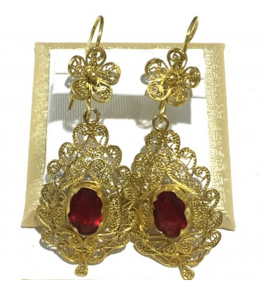 18ct Gold Vintage Jewellery Ear Rings Ref 3597