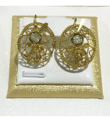 18ct Gold Vintage Jewellery Ear Rings Ref 3591
