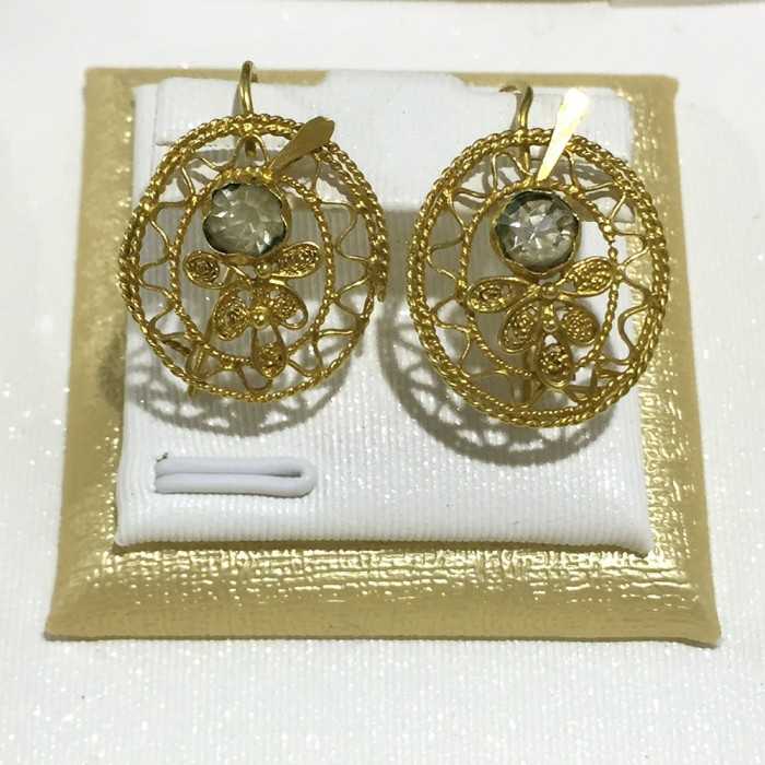 18ct Gold Vintage Jewellery Ear Rings Ref 3591 - SAID (Remy) Malta
