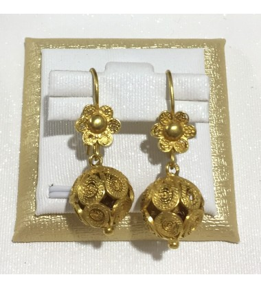 18ct Gold Vintage Jewellery Ear Rings Ref 3594