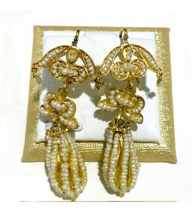 18ct Gold Vintage Jewellery Ear Rings Ref 3587