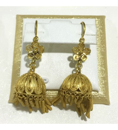18ct Gold Vintage Jewellery Ear Rings Ref 3593