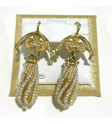 18ct Gold Vintage Jewellery Ear Rings Ref 3586