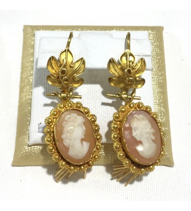 18ct Gold Vintage Jewellery Ear Rings Ref 3585
