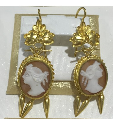 18ct Gold Vintage Jewellery Ear Rings Ref 3588