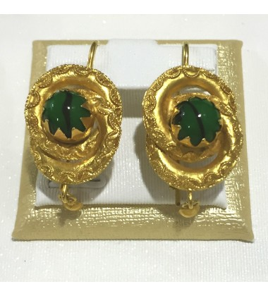18ct Gold Vintage Jewellery Ear Rings Ref 3590