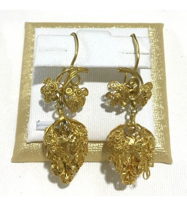 18ct Gold Vintage Jewellery Ear Rings Ref 3595