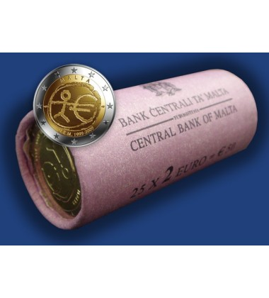 2009 Malta 2 Euro Emu Coin Roll Uncirculated