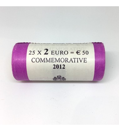 2012 Malta 2 Euro Majority Representative 1887 Coin Roll