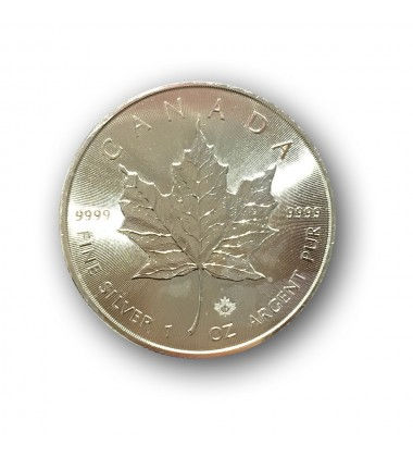 2017 Canada Maple Leaf 5 Dollars Silver One Ounce Coin 1oz
