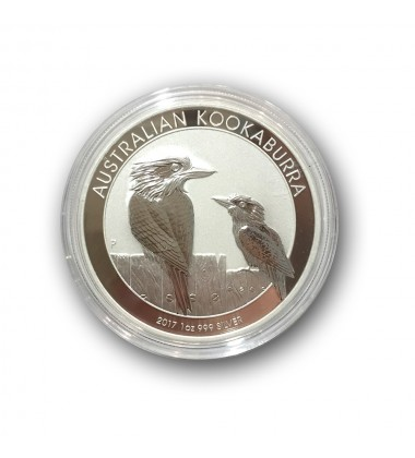 2017 Australia Kookaburra 1 Dollar Silver One Ounce Coin 1oz
