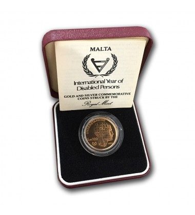 1983 IYDP Lm 100 Gold Coin