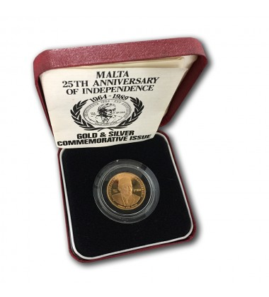 1989 25th Ann. Independence Lm 100 Gold Coin