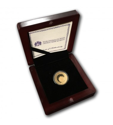 2010 Malta - €50 Auberge D Italie Commemorative Gold Coin - Proof