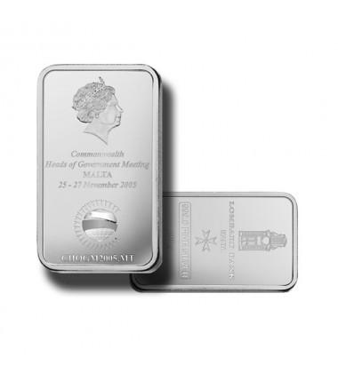 2005 Lombard Bank 100gr Silver Ingot CHOGM