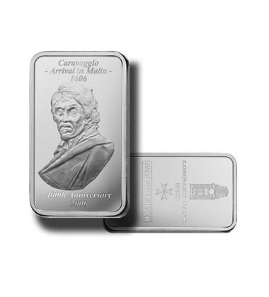 2007 Lombard Bank 100gr Silver Ingot Caravaggio