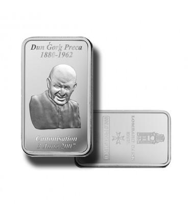 2007 Lombard Bank 100gr Silver Ingot Dun Gorg Preca
