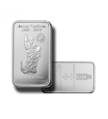 2009 Lombard Bank 100gr Silver Ingot Annus Paulinus