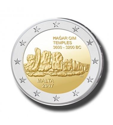 2017 Malta Hagar Qim 2 Euro Commemorative Coin