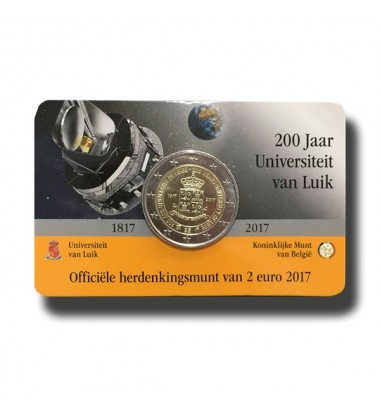 2017 Belgium University Van Luick 2 Euro Commemorative Coin
