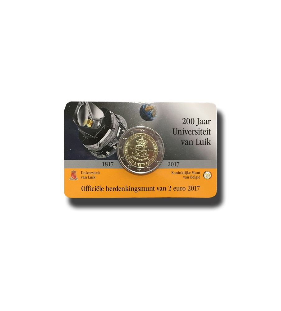 2017 Belgium University Van Luick 2 Euro Commemorative Coin