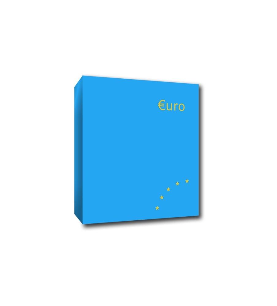 Euro Coin Album Blue 4 Ring