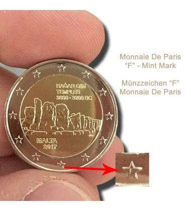 2017 Malta Hagar Qim -F- 2 Euro Commemorative Coin