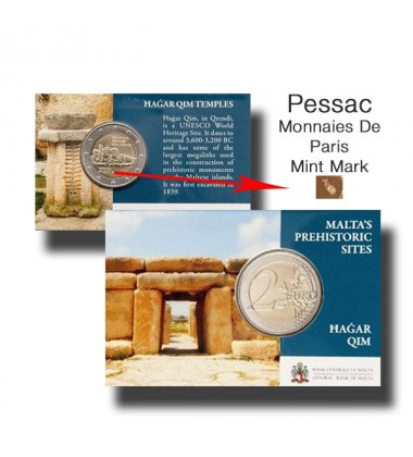 2017 MALTA HAGAR QIM COIN CARD - 2 EURO COMMEMORATIVE COIN