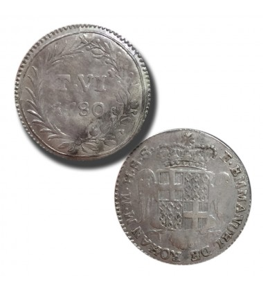 1780 De Rohan 6 Tari - Knights of Malta Silver Coin
