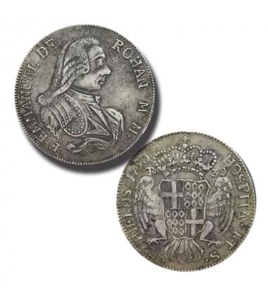 1790 De Rohan 30 Tari - Knights of Malta Silver Coin