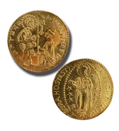 1557 - 1568 La Vallette Zecchino Gold Coin