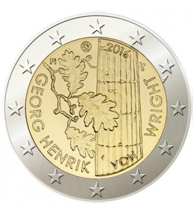 2016 Finland Georg Henrik Wright 2 Euro Commemorative Coin