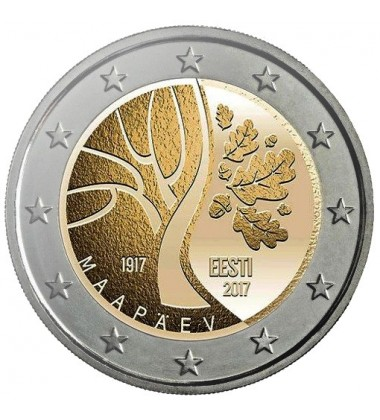 2017 Estonia 100 Years of Independence 2 Euro Commemorative Coin