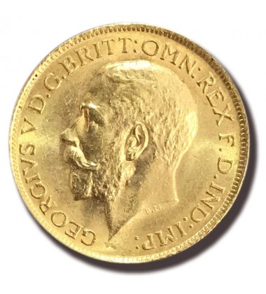 1912 British Full Sovereign George V Gold Coin A/Unc