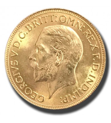 1931 British Full Sovereign George V Gold Coin A/Unc