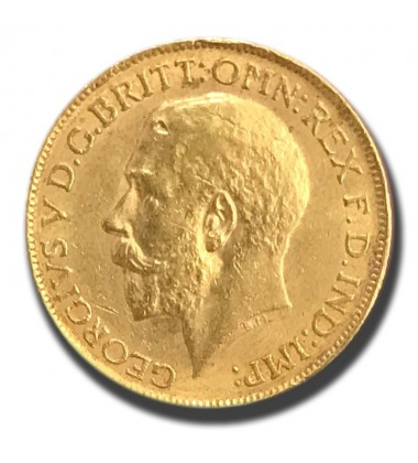 1912 British Full Sovereign George V Gold Coin