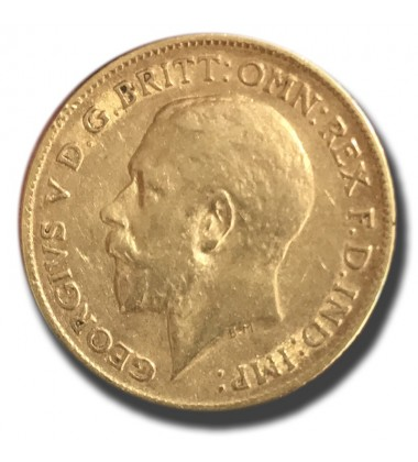 1912 British Half Sovereign George V Gold Coin
