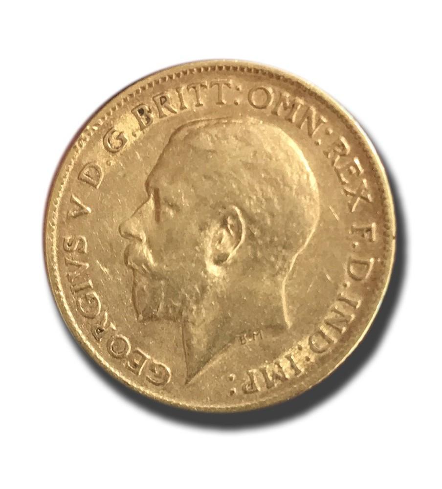 1912 British Half Sovereign George V Gold Coin
