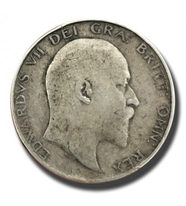 1905 British Silver Half Crown 2 Shillings Edward VII Coin