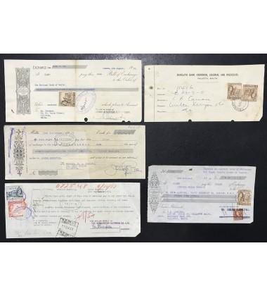 1957-8 Malta Incoming Cambiali National Bank