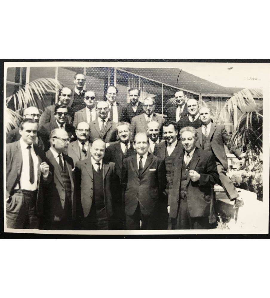 1960's Nationalist Party Original Photo With Gorg Borg Olivier