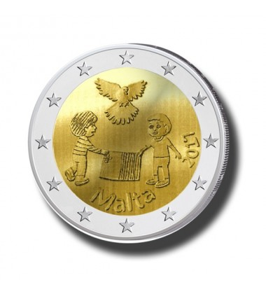 2017 Malta PEACE 2 Euro Commemorative Coin
