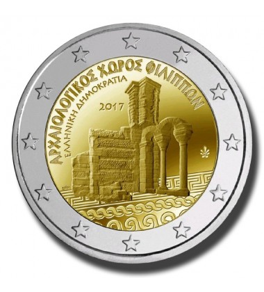 2017 Greece ARCHAEOLOGICAL SITE OF PHILIPPI 2 Euro Commemorative Coin