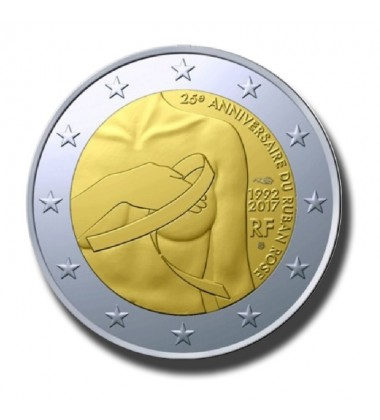 2017 France Breast Cancer Awareness 2 Euro Commemorative Coin