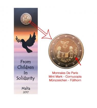 2017 MALTA HAGAR QIM COIN CARD - 2 EURO COMMEMORATIVE COIN