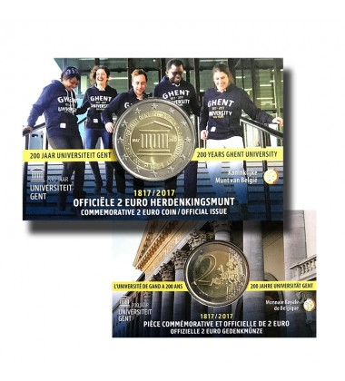 2017 Belgium Gent Coin Card - 2 Euro Commemorative Coin